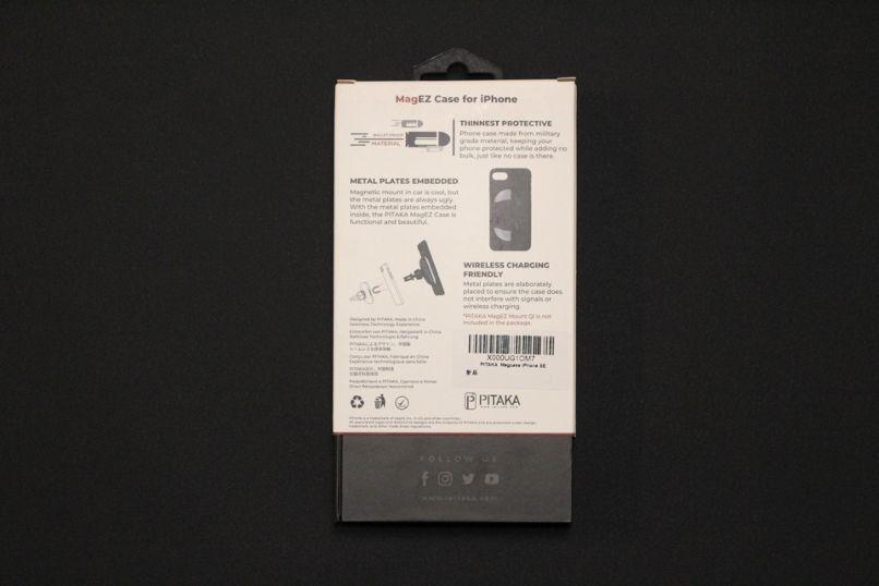 iPhone SE2(2020)用のPITAKA MagEZ Caseの外箱裏