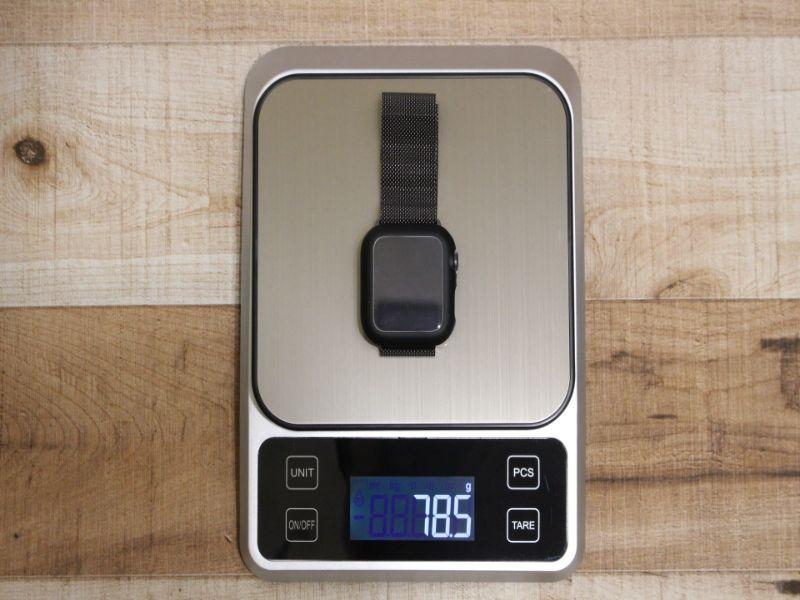 AppleWatchシリーズ6の本体とミラネーゼの重さ