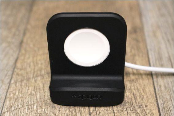 【レビュー】Apple Watchコンパクトな充電器:スタンドのSpigenはシックでコスパ抜群本体外観:デザイン