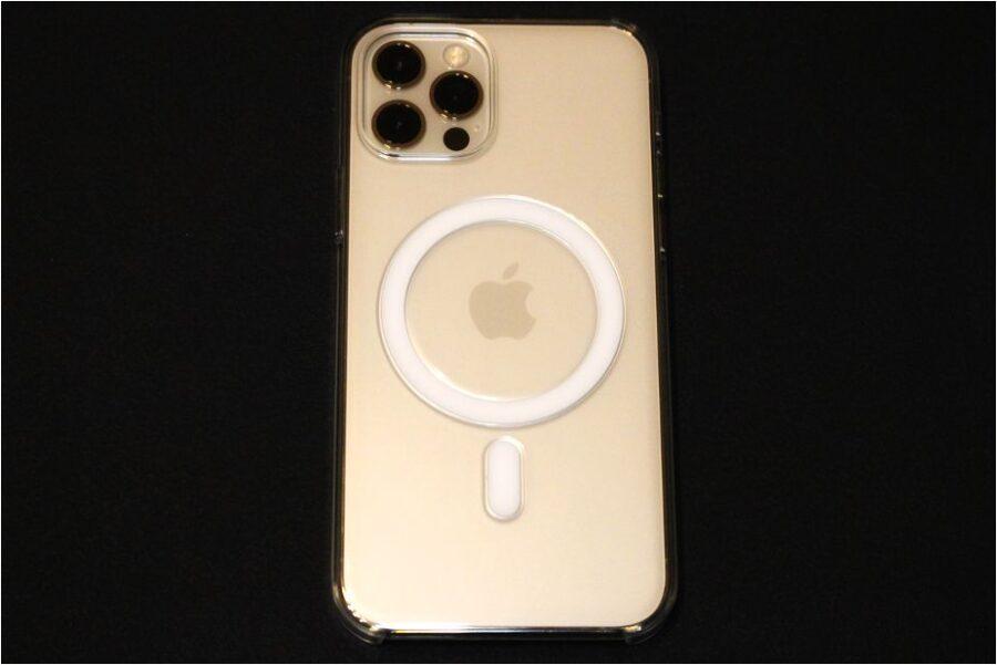 MagSafe対応『iPhone12Pro・iPhone12』Apple純正クリアケース本体と装着後