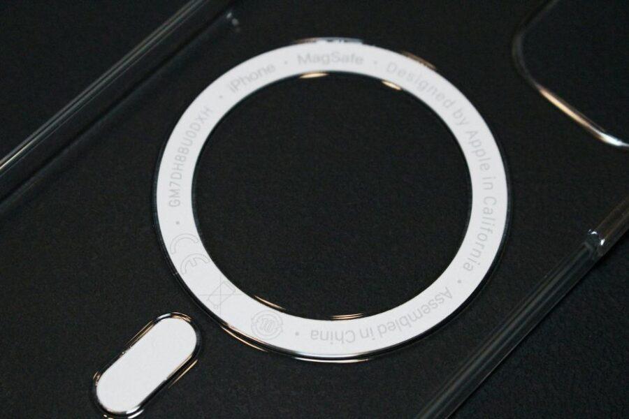 iPhone12シリーズ(Pro・無印・mini)MagSafe対応アップル純正クリアケースマグネット部分