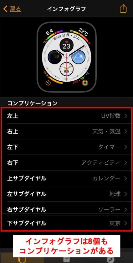 Apple Watch節約方法インフォグラフはおすすめできないpng