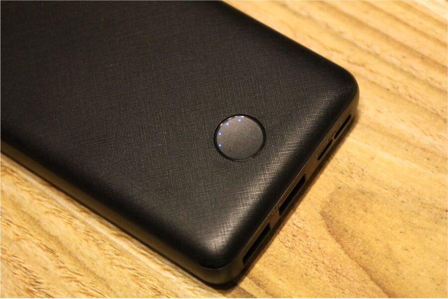 iPhoneを急速充電できるモバイルバッテリーAnkerEssential20000インジケーターはレベル4