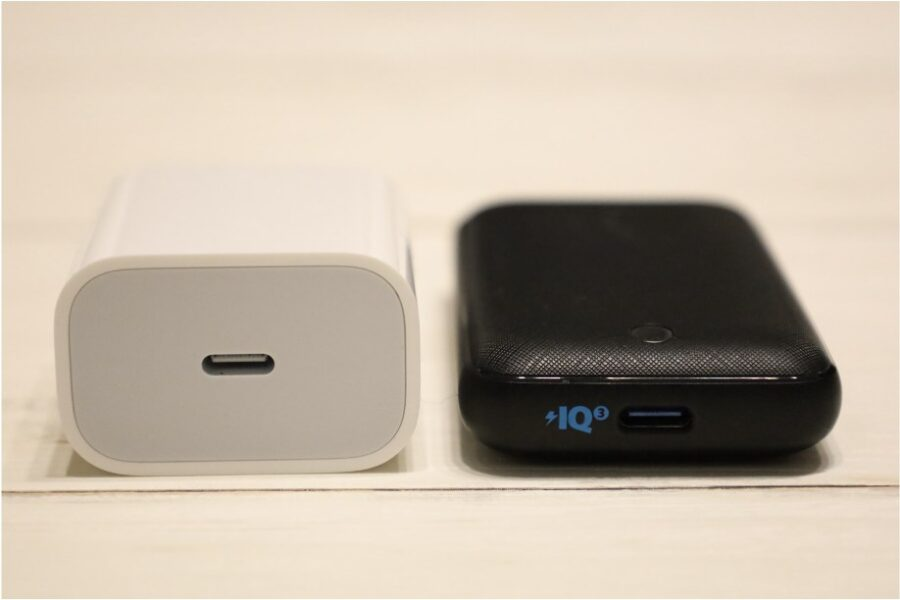 Anker:PowerPort Atom Ⅲ 30W SlimとApple純正20Wの比較