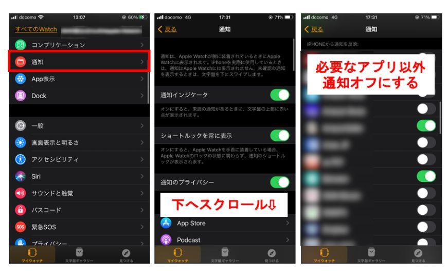 節約方法3. 通知を設定するiPhone側