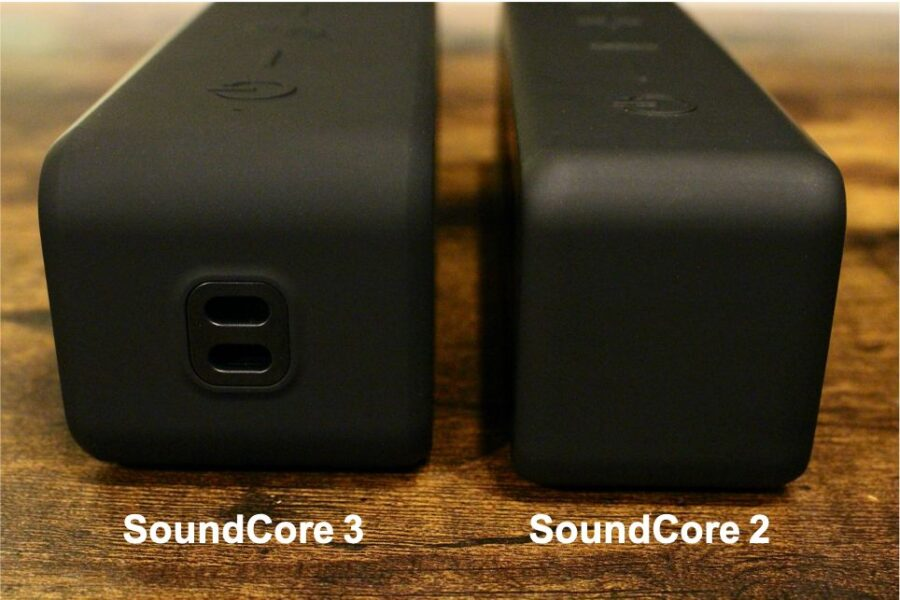 Anker SoundCore 3 VS Soundcore 2の外観比較左側