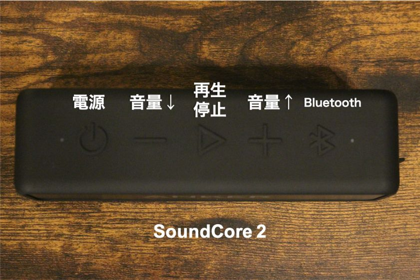 SoundCore2ボタン周り