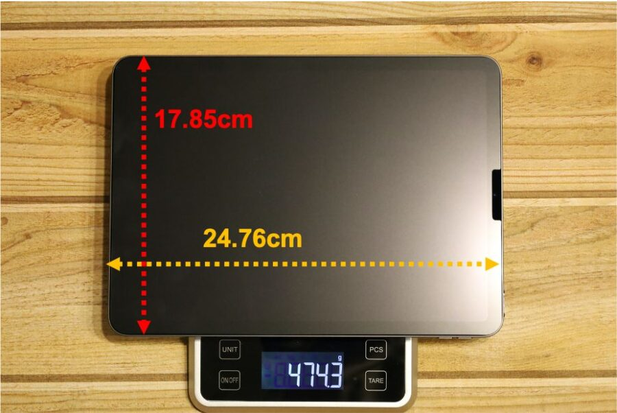 ipad air4重量サイズ感