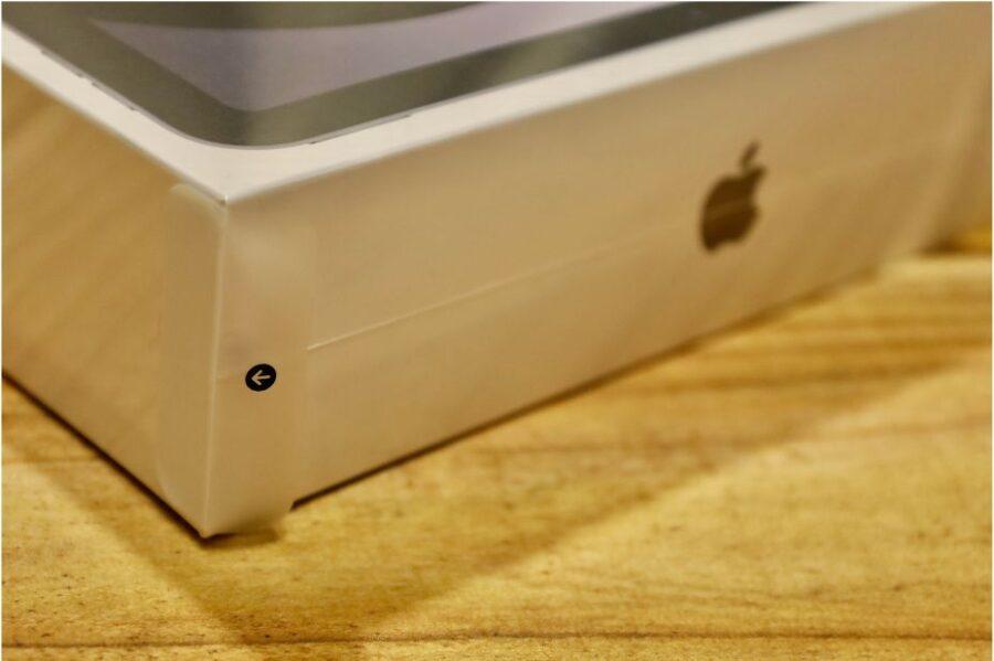 iPad Air 4(2020)のシュリンクを破る部分