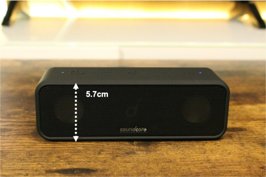 Anker SoundCore 3のサイズ感重量2