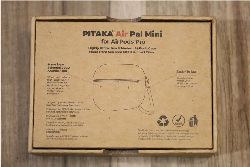 PITAKA Air Pal Mini for AirPods Proケースの背面外箱