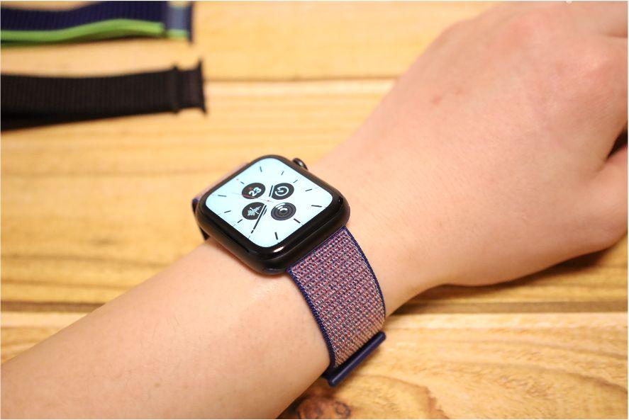 Apple WatchナイロンスポーツATUPバンドミッドナイトブルー1