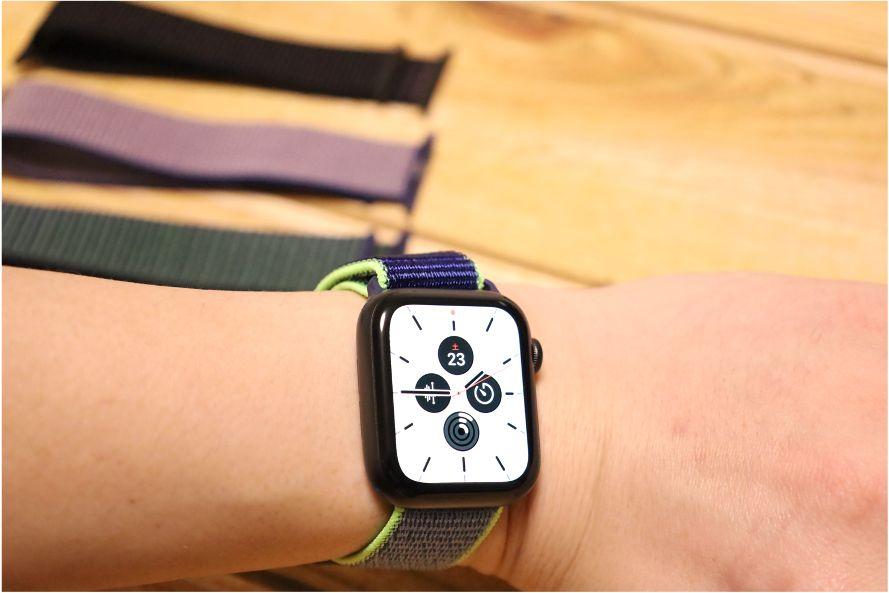 Apple WatchナイロンスポーツATUPバンドネオンライム1