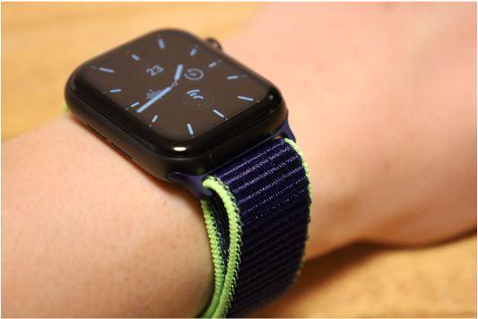 Apple WatchナイロンスポーツATUPバンドネオンライム2