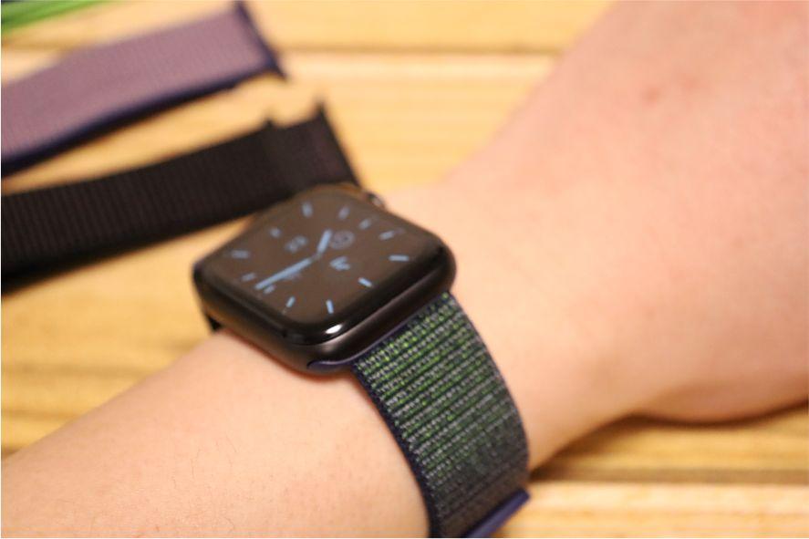 Apple WatchナイロンスポーツATUPバンドグレー2Apple WatchナイロンスポーツATUPバンドグレー2