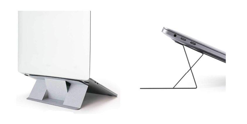 MacBook Air:Pro おすすめ『折りたたみ貼り付けコンパクトスタンド』MOFT25度