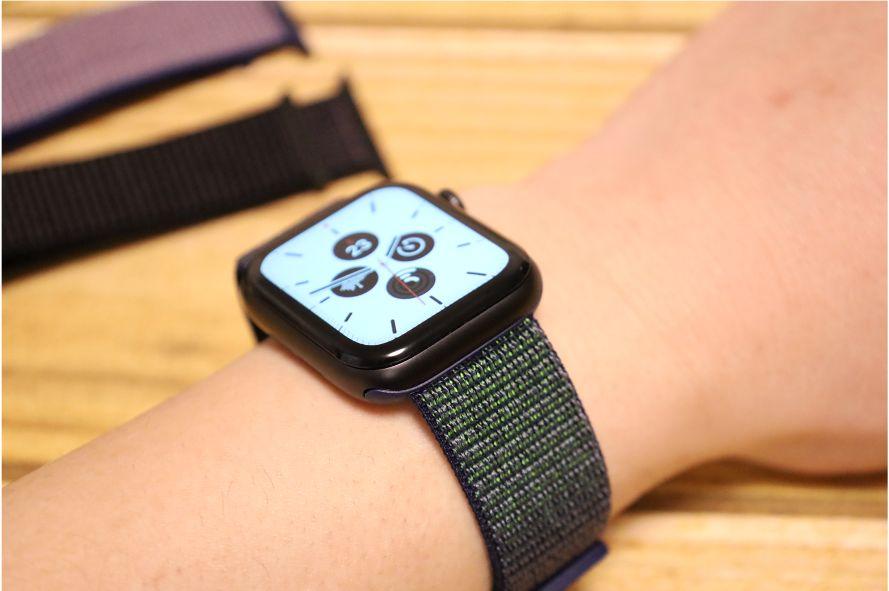 Apple WatchナイロンスポーツATUPバンドグレー1