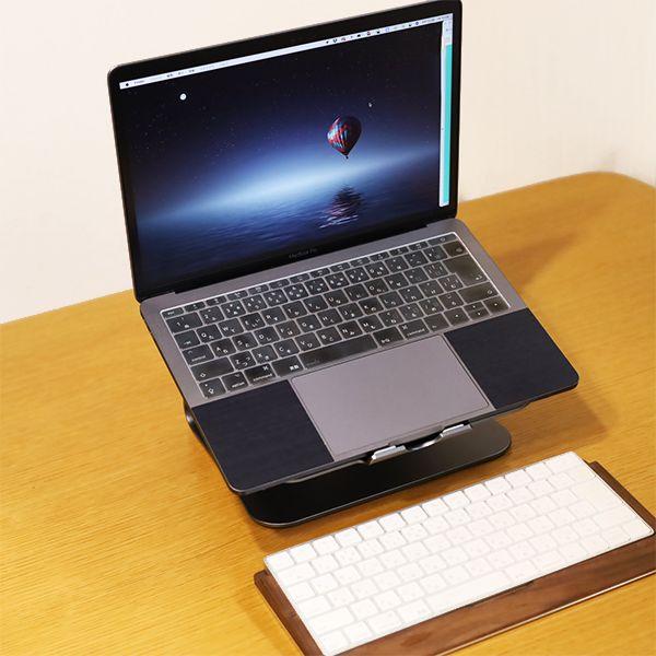 BestandノートPCスタンドでMacBookやノートPCを使用するとキーボードが別付けで必要