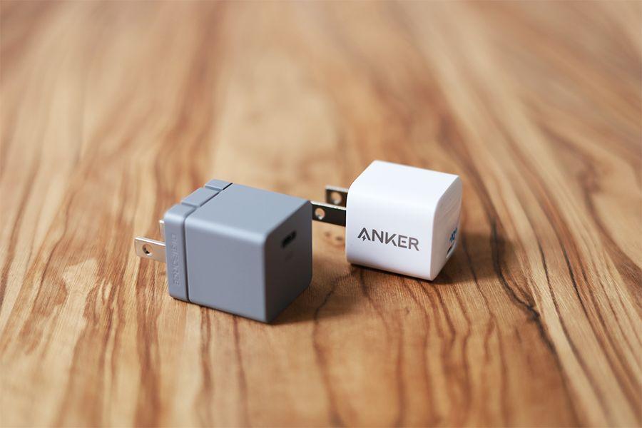 DIGIFORCE 20W USB PD Fast ChargerとAnker PowerPort nano20W充電を比較