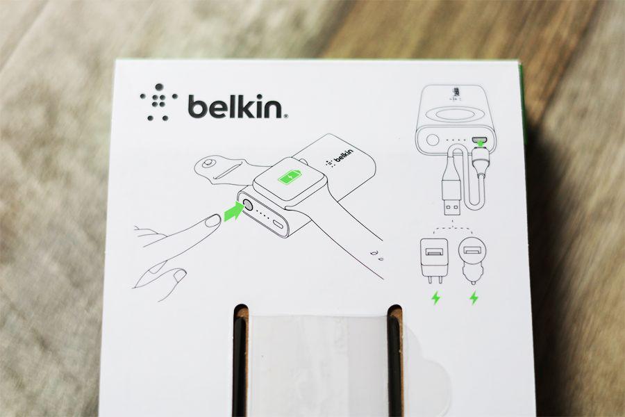 Belkin BOOST CHARGE Apple Watch用モバイルバッテリーの説明書は中箱裏にある