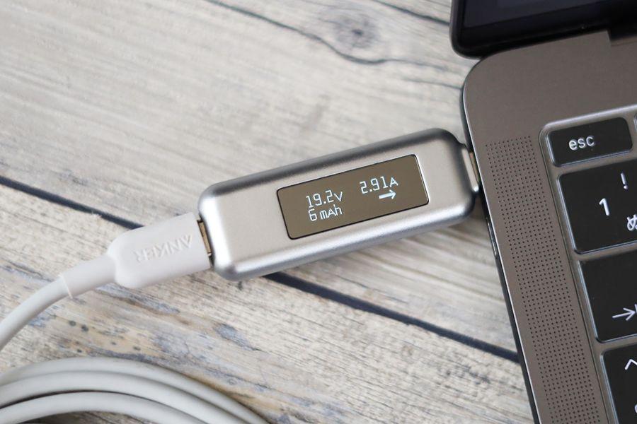 CIO LilNob 100WでMacBookPro13インチのみ充電したら約65W