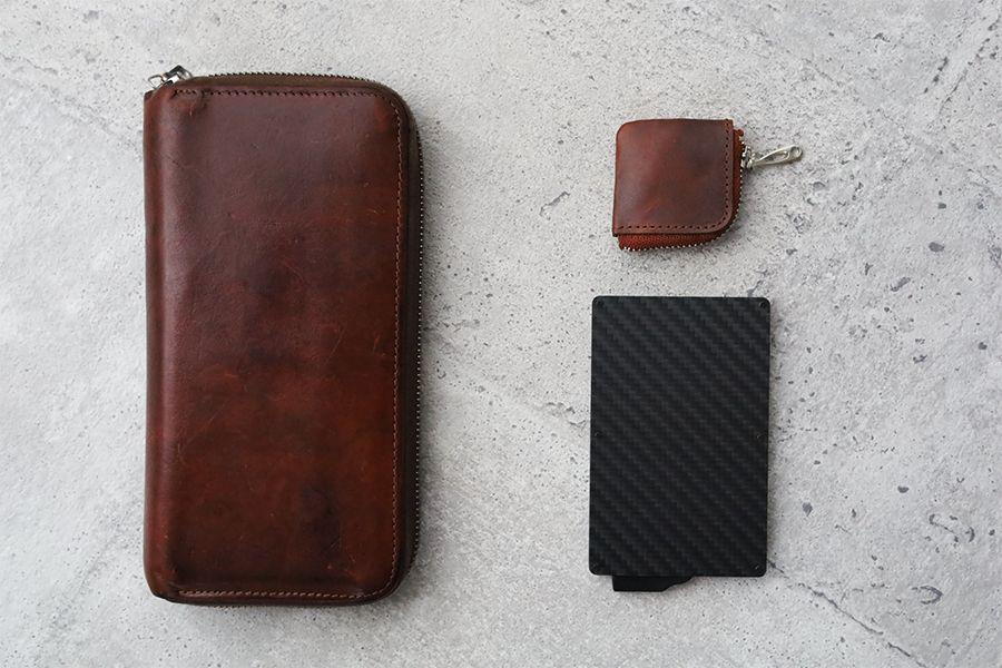 Zeprion クレカスキミング防止のスライド式ケースは長財布からミニマリストスタイルへ転換できる