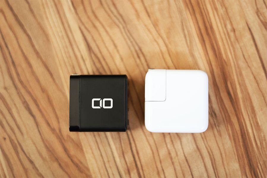 CIO LilNob ShareとApple30W純正充電器を比較