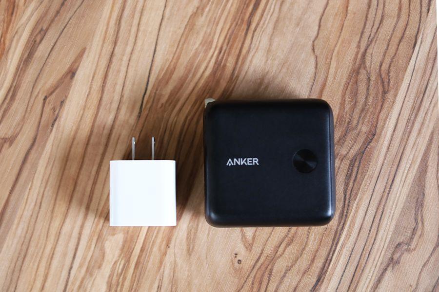 Anker PorwerCore Fusion 10000 PDとApple充電器20Wと比較する