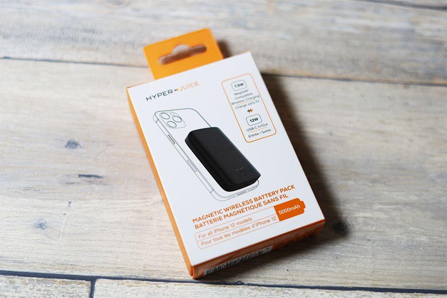 HyperJuice Magnetic Wireless Battery Packマグネットワイヤレスモバイルバッテリーの外箱表面