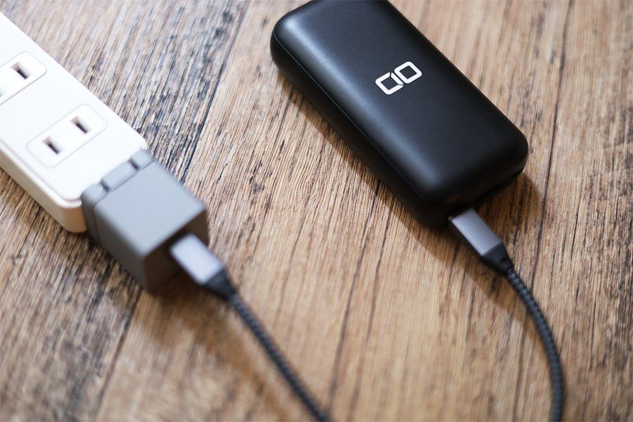CIO-MB20W-10000の充電は約18W