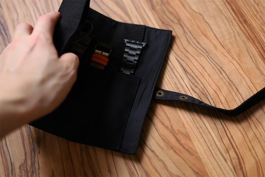 Apple Watchバンド収納ケース・バッグはキャンバス生地で使いやすい