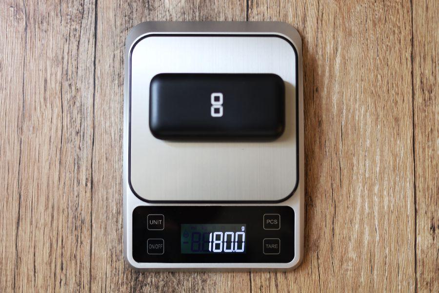 CIO-MB20W-10000の重さ180g