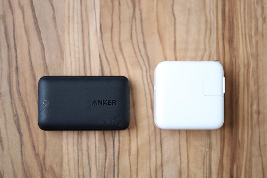Anker PowerPort Atom Ⅲ Slim30WとApple30W充電器の比較