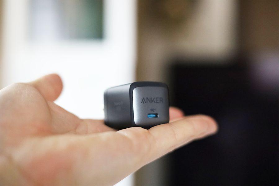 Anker Nano Ⅱ 30Wは手のひらサイズ