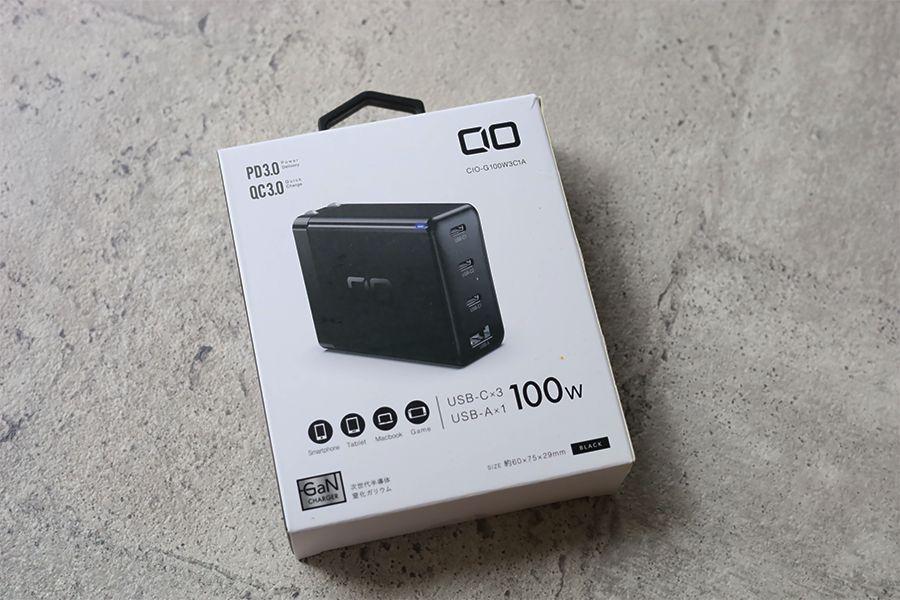 CIO LilNob USB PD 4ポート100W【G100W3C1A】のパッケージ
