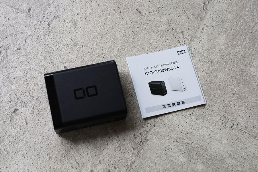 CIO LilNob USB PD 4ポート100W【G100W3C1A】の同梱品