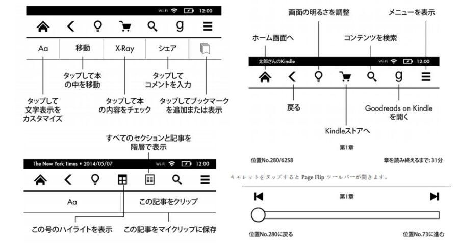 Kindle Paperwhiteの操作方法は種類が豊富で柔軟に対応できる