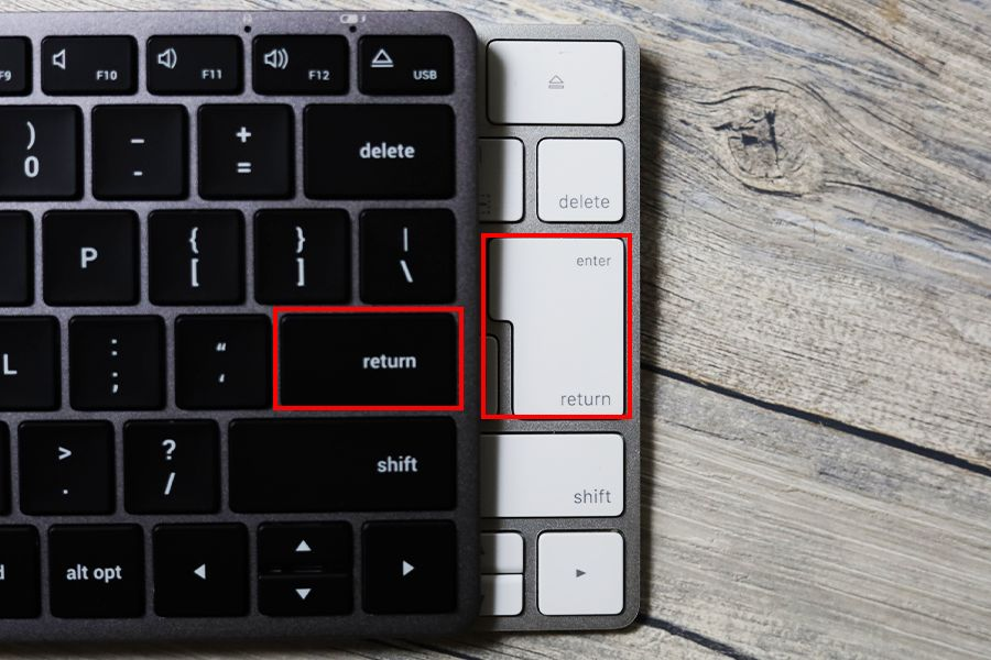 Satechi Slim X1 Bluetooth Backlit KeyboardとMagic KeyboardのUSとJISはenterが異なる