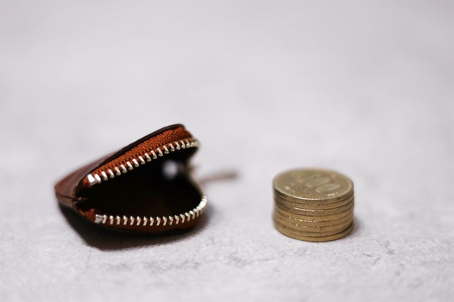 dripのCHIPは500円玉8枚入る