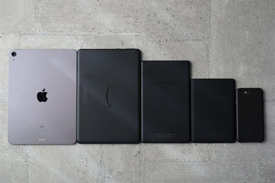 Kindle PaperwhiteはiPhoneよりやや大きいサイズ感