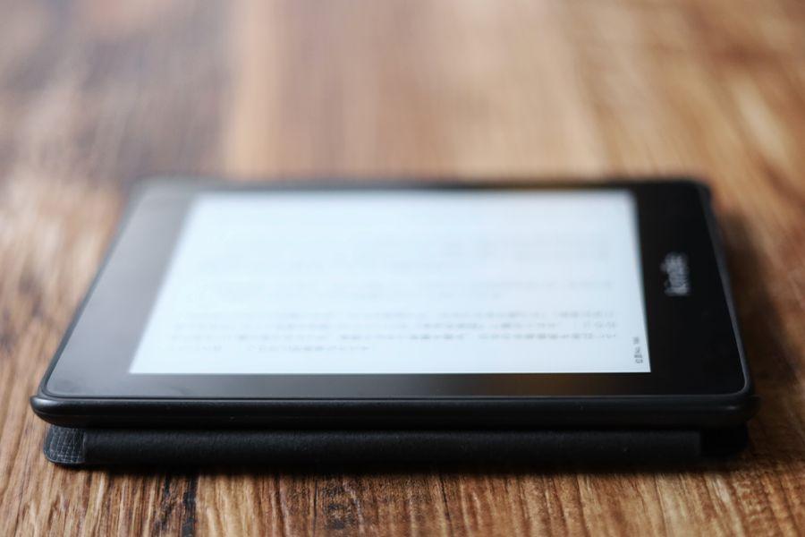 Kindle Paperwhite純正レザーケース:カバーは折り返しても問題なし