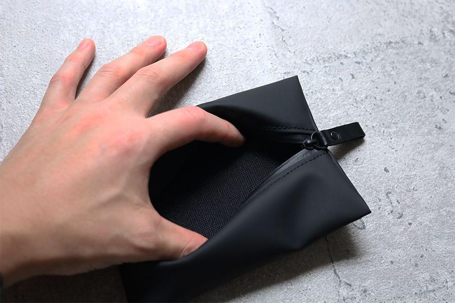 アソボーゼ TOFTPOUCH(タフトポーチ)ポケット内は柔らかいキャンバス素材
