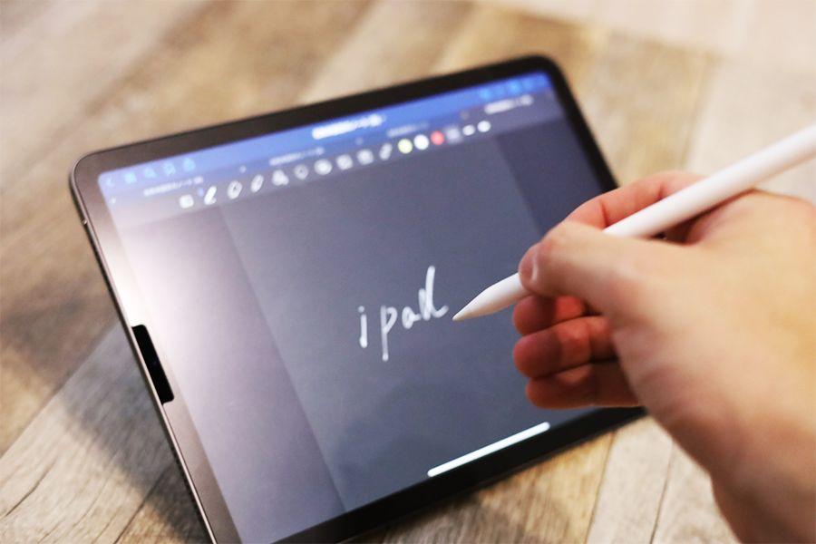 iPad用MOFT X改良型の横置きはApple Pencilでも書きやすい
