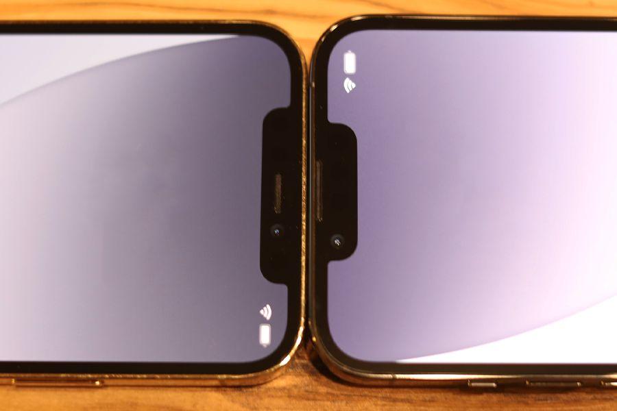 iPhone 12 ProとiPhone 13 Proの比較のノッチはサイズダウン