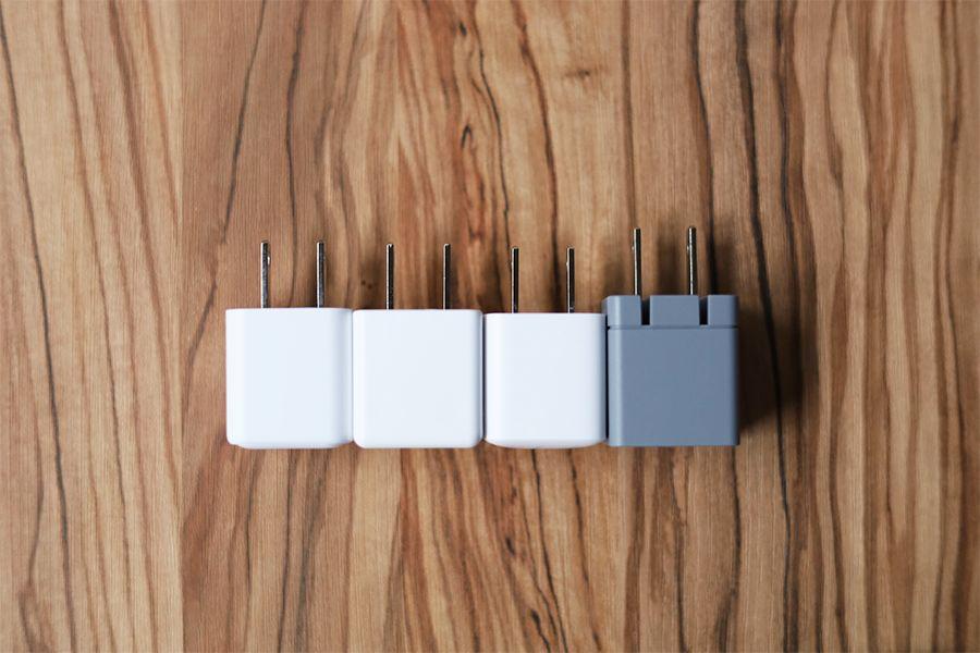 CIO-PD20Wと他の充電器比較4サイズ