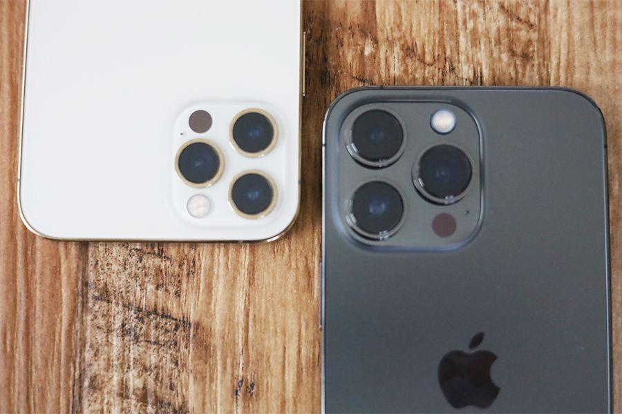 iPhone 12 ProとiPhone 13 Proと比較カメラ部分