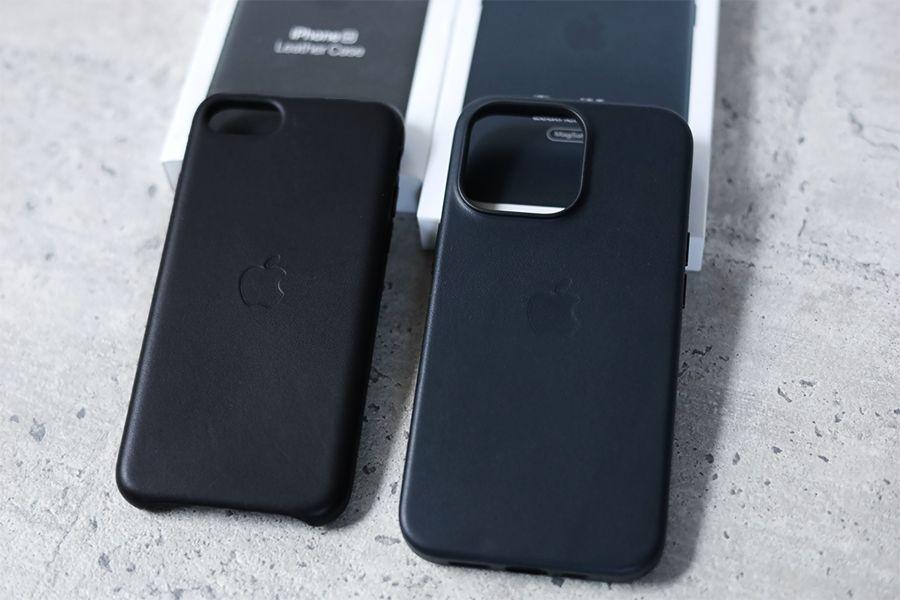 iPhone 13 Pro Apple純正レザーケースミッドナイトiPhoneSE2のレザーケース
