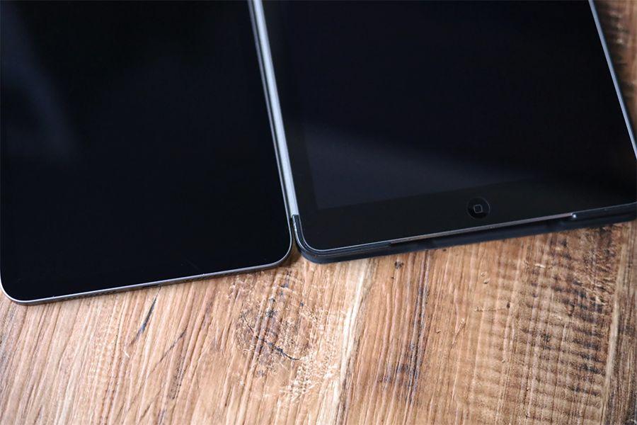 IPad mini 6はベゼルレスで画面領域が大きくなっている